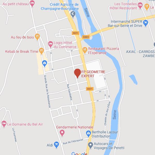 Carte Bar-sur-Seine
