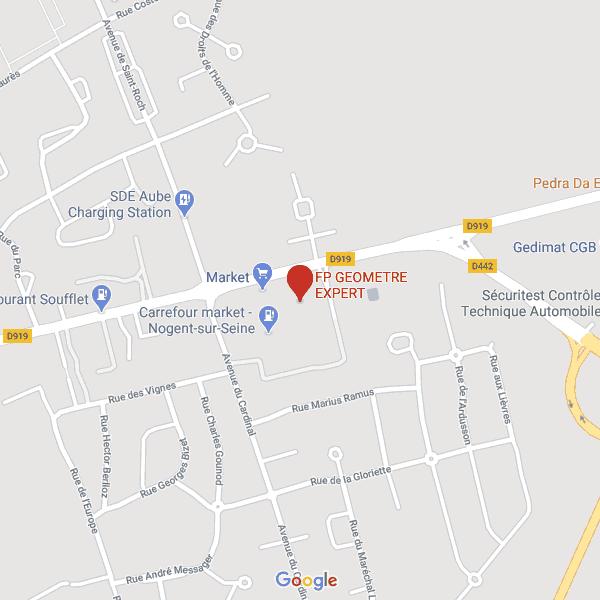 Carte Nogent-sur-Seine